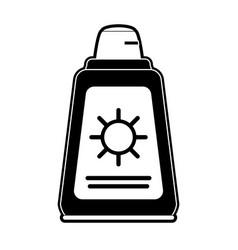 Sun bronzer bottle vector
