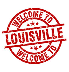 Welcome to louisville red stamp vector