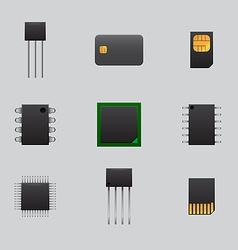Mobile and computer boards vector