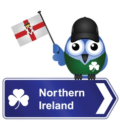 COUNTRY SIGN NORTHERN IRELAND vector image