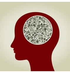 Head medicine2 vector image