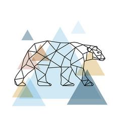 Abstract geometric bear vector