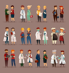 Employee and workers for medical professions vector