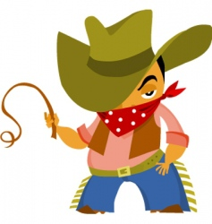wild west cowboy vector image