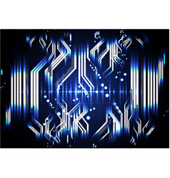 technological abstract digital circuit pulse vector image