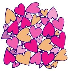 hand drawn abstract heart vector image