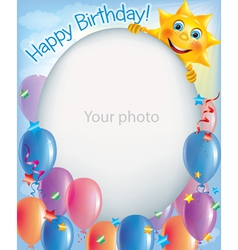 Birthday frames for photos 2 vector