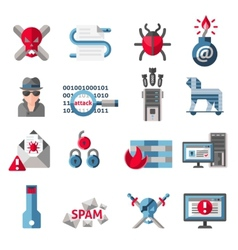 Hacker icons set vector