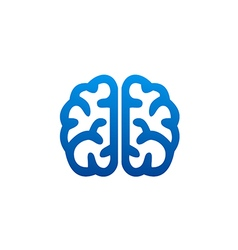 Brain abstract knowledge science logo vector