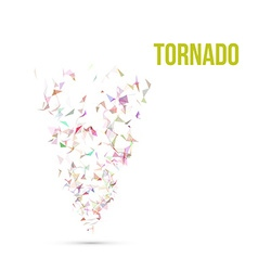 Absract colorful polygonal tornado vector