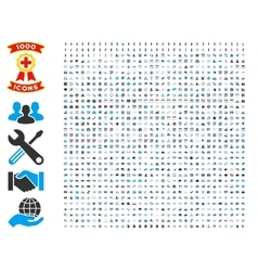 Set of 1000 flat icons vector