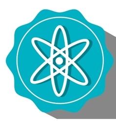 Atom round icon vector