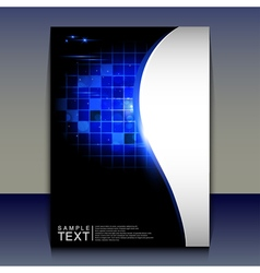 Flyer or brochure cover design - abstract vector