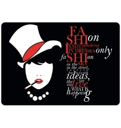 Fashion quote with girl vector