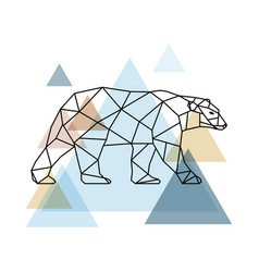 abstract geometric bear vector image vector image