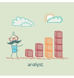 analyst close to the schedule vector image vector image