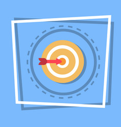 Arrow in target icon goal web button vector