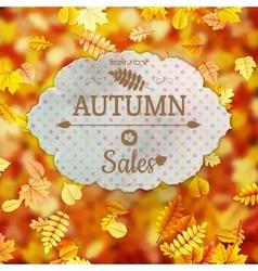 Autumn sale template eps 10 vector