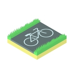 Bike parking icon cartoon style vector image