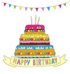 Birhday cake garland vector image
