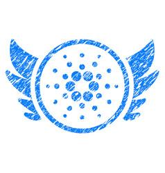 Cardano angel investment icon grunge watermark vector