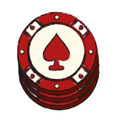 Casino chip icon image vector