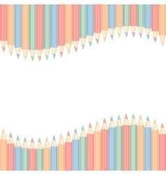 color pencils isolated vector image vector image