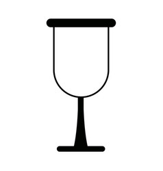 Cup glass drink beverage icon vector