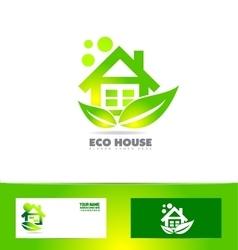 Eco ecological house real estate logo vector image