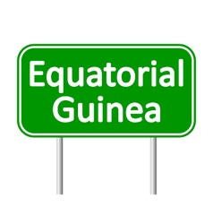 Equatorial guinea road sign vector