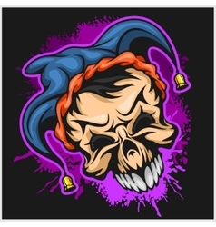 Evil scary clown halloween monster joker vector
