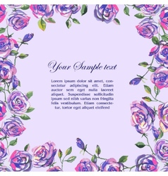 floral watercolor border vector image vector image