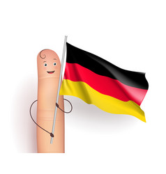 Germany flag waving vector