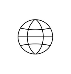 globe station line icon world and earth vector image