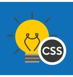 Idea code web program css vector