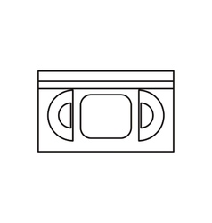 Isolated cinema vhs design vector