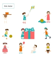 Kids Elements vector image