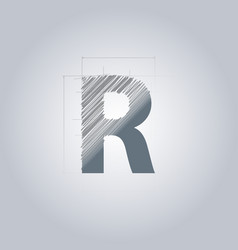Letter r logo alphabet logotype architectural vector