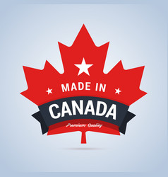Made in Canada badge vector image vector image