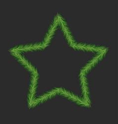 pine tree star vector image vector image