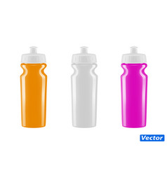 plastic bottle for bicycle isolated on whit vector image