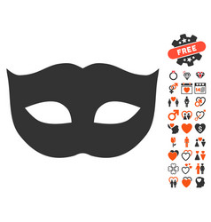 Privacy mask icon with lovely bonus vector