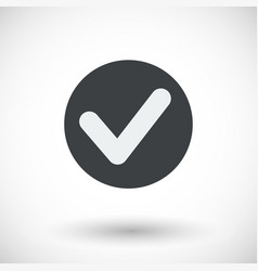 single check mark flat icon vector image vector image