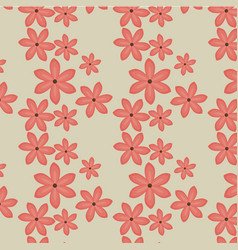 tropical seamless pattern floral vector image