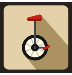 Unicycle icon in flat style vector