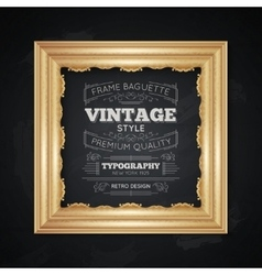 Vintage Frame Typography vector image vector image