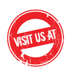 Visit us at rubber stamp vector