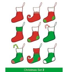 Christmas Socks Set vector image