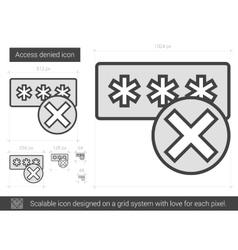 Access denied line icon vector
