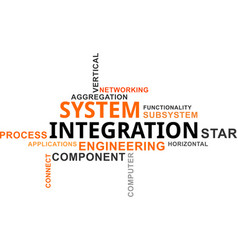 Word cloud - system integration vector